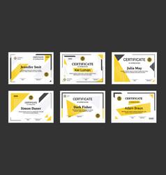 certificate graduation elegant and minimalist vector image