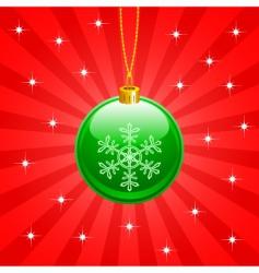 Christmas ball vector image