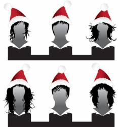 Christmas hair styles vector image vector image