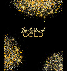circle of gold sparkles vector image