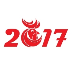 Cock new year vector image