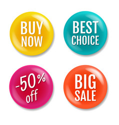 colorful sale badge isolated white background vector image