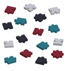concept pieces of puzzle in 3d vector image