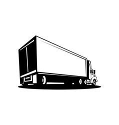 container Truck and trailer vector image