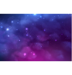 Cosmos background with realistic stardust nebula vector