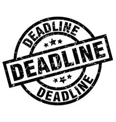 Deadline round grunge black stamp vector