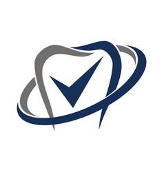 Dental care check mark vector