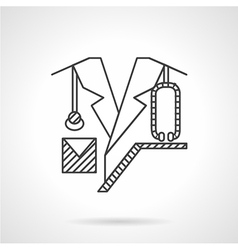 Doctor flat line icon vector