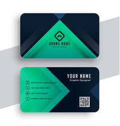 Doctors business card in turquoise color vector