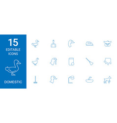 domestic icons vector image