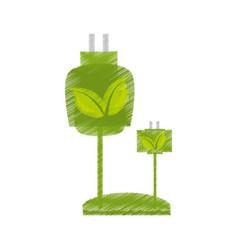 Ecological energy alternatives icon vector