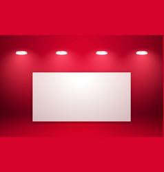 empty red studio room interior clean workshop for vector image