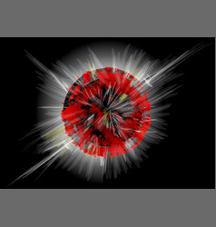 Explosion planet vector