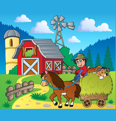 Farm theme image 6 vector