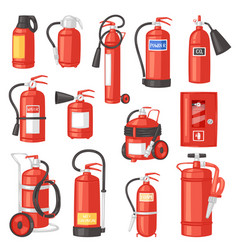 fire extinguisher fire-extinguisher for vector image
