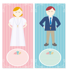 first communion for a nice invitation design vector image