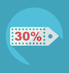 Flat modern design with shadow discount coupon vector
