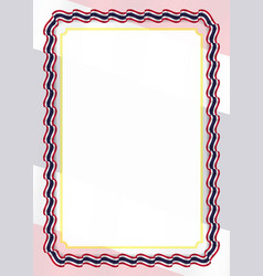 Frame and border of ribbon with thailand flag vector