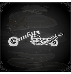 Hand Drawn Motorbike vector image