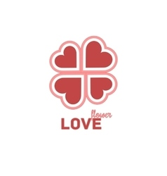 Heart Symbol Isolated On White Background vector image