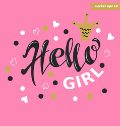 hello girl vector image