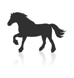 Horse in flat design vector