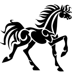 Horse in tribal style vector image