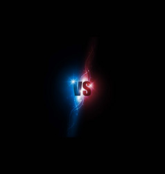 icon neon versus logo vs letters for sports and vector image