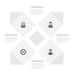 icon poker set of girl wheel investor and other vector image