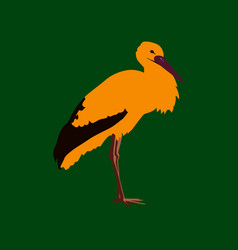 In flat style stork vector