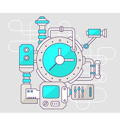 industrial of the mechanism of clock Color vector image