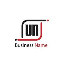 Initial letter un logo template design vector