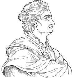 isaac newton portrait vector image