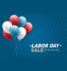 labor day sale background usa national holiday vector image
