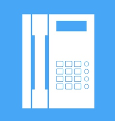 Landline phone on a white background vector image