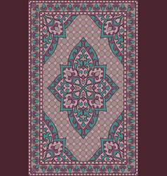 lilac template for carpet vector image