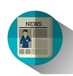 Mass media news graphic vector image