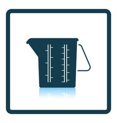 Measure glass icon vector image