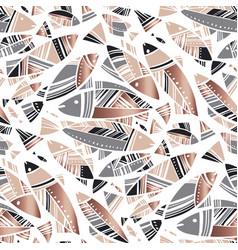 Mediterranean summer abstract fish seamless vector