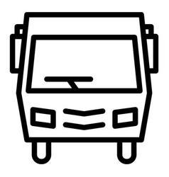 Minibus line icon modern minibus vector