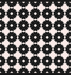 Monochrome seamless pattern flat floral texture vector