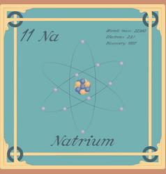 Natrium colorful icon vector