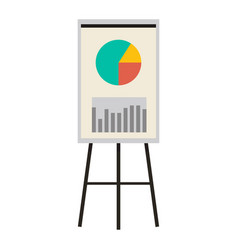 Office presentation board with charts and diagram vector