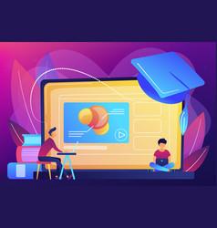Online education platform concept vector