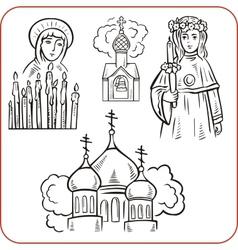 Orthodox religion vector