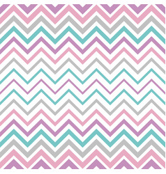 pastel vintage seamless zigzag line pattern vector image