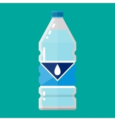 Plastic bottle of pure water vector