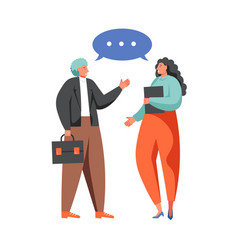 political dialog concept flat isolated vector image