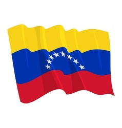Political waving flag of venezuela vector