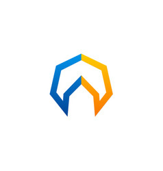 polygon geometry colored logo vector image